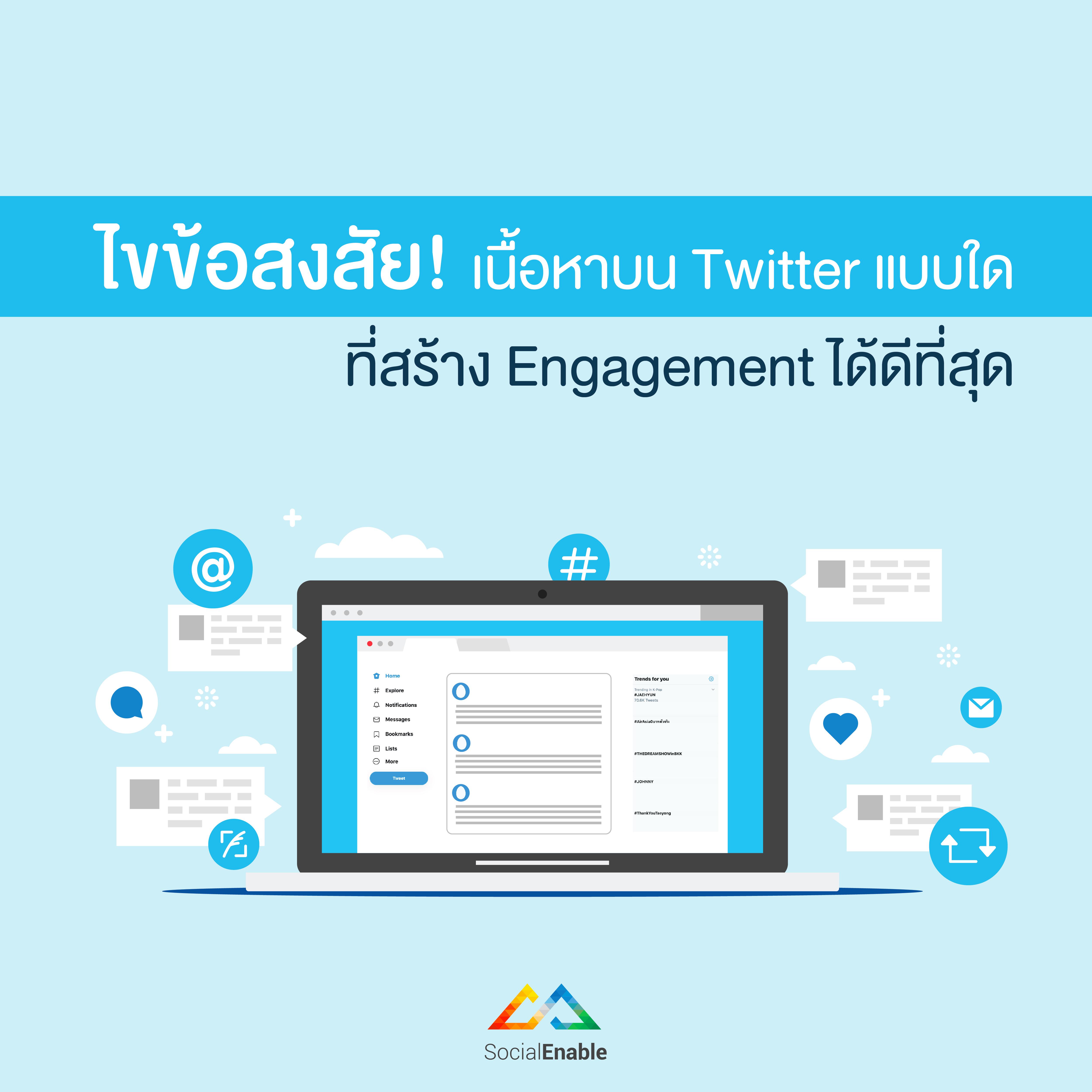 ไขข้อสงสัย! เนื้อหาบน Twitter แบบใด ที่สร้าง Engagement ได้ดีที่สุด